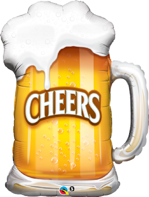 Cheers Beer Mug Foil Balloon | Free Delivery Available